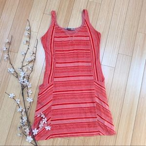 Athleta Hot Pink Striped Breeze Dress Size S